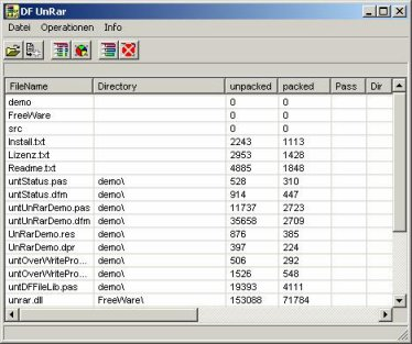 Screenshot für DF UnRar